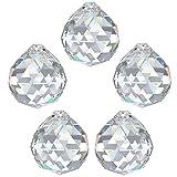 5X Regenbogenkristall Kugel Ø 40mm Crystal 30% PbO ~ Kronleuchter Lüster Feng Shui