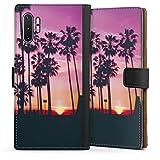 DeinDesign Étui Compatible avec Samsung Galaxy Note 10 Plus Étui Folio Étui magnétique Palmier...
