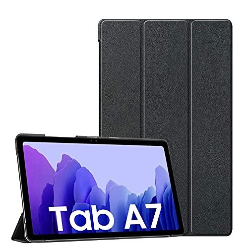 Adecuado para Samsung Galaxy Tab A7 10.4 pulgadas 2020 (SM-T500 / T505 / T507) cubierta protectora, cubierta de cuero con soporte de tres pliegues, con función de despertador / suspensión automático