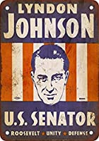 1941年リンドン・B・ジョンソン、米国上院議員ヴィンテージレトロメタルサイン用