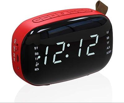 MSNDIAN Altavoz Bluetooth Inalámbrico Mini Reloj Despertador · Reloj de Alarma Móvil Subwoofer de Sonido Portátil