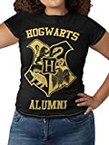 HARRY POTTER Camiseta para Mujer Hogwarts Multicolor Large