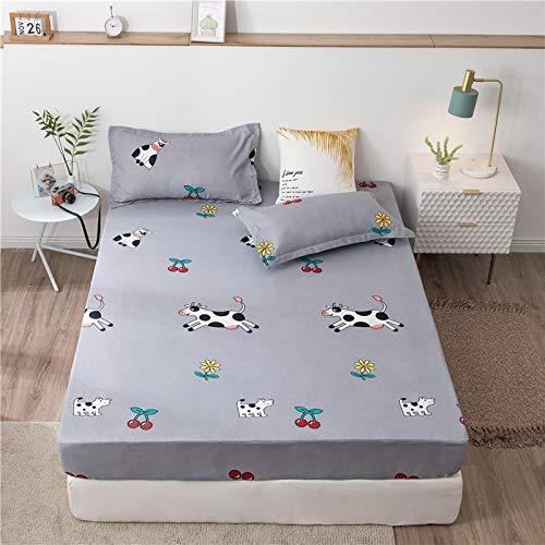 HAIBA Sábana bajera ajustable de seda de satén, transpirable, suave y cómoda (una sola pieza, doble), 200 x 220 + 20 cm
