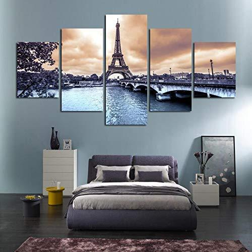 quadri moderni soggiorno parigi Stampe e Quadri su Tela