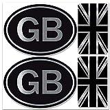 Biomar Labs Set de 4pcs Pegatina Vinilo Adhesivo Bandera de Reino Unido Union Jack UK Gran Bretaña GB Flag Británico para Coches Auto Moto Casco Scooter Bicicletas Ordenador Portátil D 58