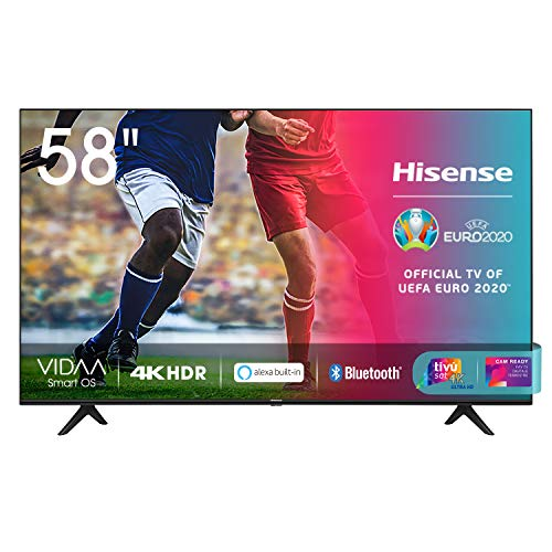 "Hisense 58AE7000F, Smart TV LED Ultra HD 4K 58"", HDR 10+, Dolby DTS, con Alexa integrata, Tuner DVB-T2/S2 HEVC Main10 [Esclusiva Amazon - 2020]"
