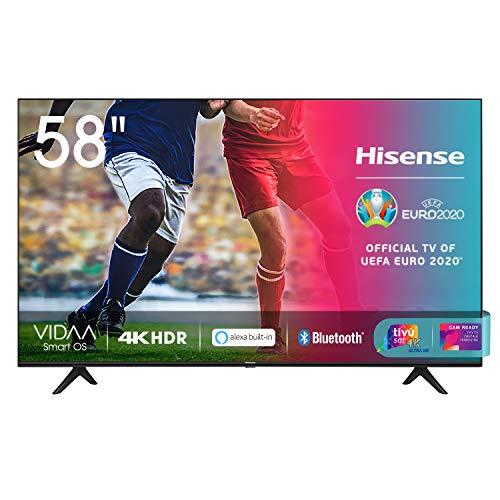 Hisense 58AE7000F, Smart TV LED Ultra HD 4K 58 , HDR 10+, Dolby DTS, con Alexa integrata, Tuner DVB-T2 S2 HEVC Main10 [Esclusiva Amazon - 2020]
