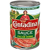 12-Pack Contadina Canned Roma Tomato Sauce with Italian Herbs, 15 Oz