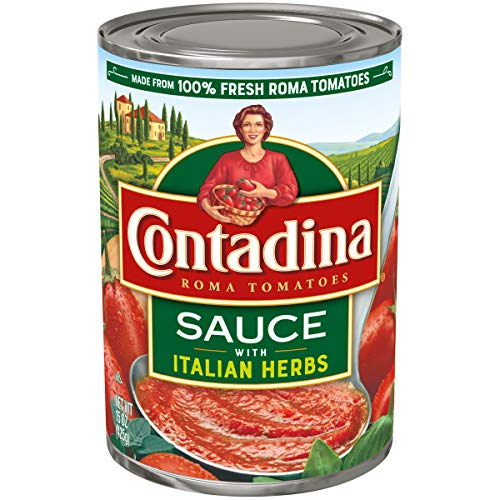 Contadina Canned Roma Tomato Sauce with Italian Herbs, 15 Ounce (Pack of 12)