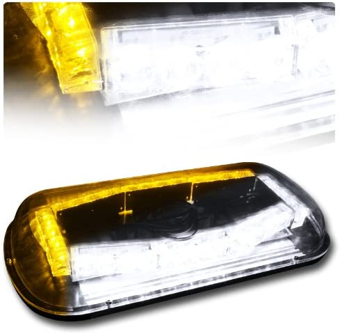 EPARTS 32 LED Amber White Roof online shop Emergency Light Bar Cheap mail order sales Hi Hazard Top