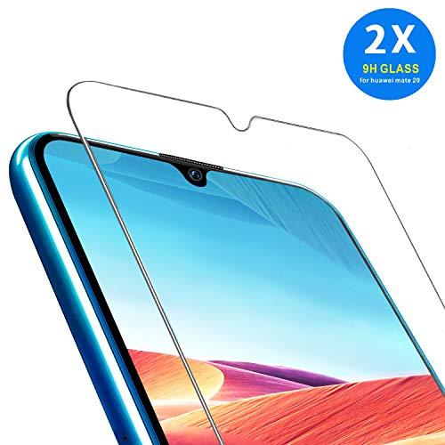 Folie für Huawei Mate 20 Panzerglas, AGC Glas HD Schutzfolie [2 Pack] Anti Kratzer Displayschutzfolie für Huawei Mate 20 Panzerglas Schutzglas Clear