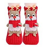 Amkun Weihnachtsstrümpfe 3D-Cartoon-Design, rutschfeste Socken, Weihnachtsmann-Geschenk...