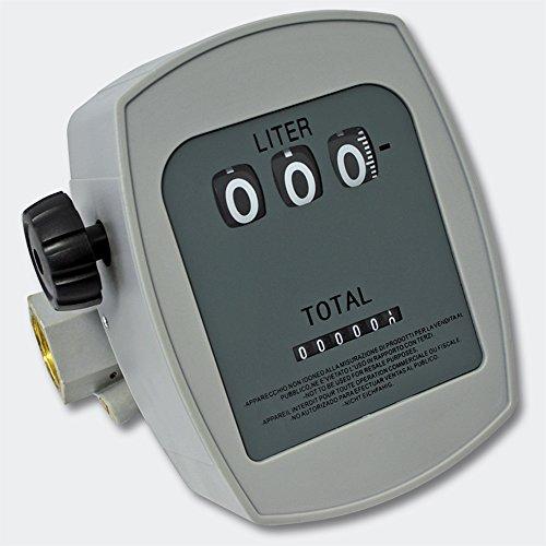 WilTec Medidor de gasoil 3 Bar 10-60l min Conexiones 1  Desviación 1%