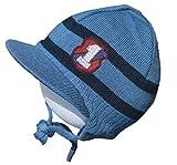 Döll Baby Jungen Wintermütze Strickmütze Mütze Bindemütze Schirmmütze (41, Blau 1)