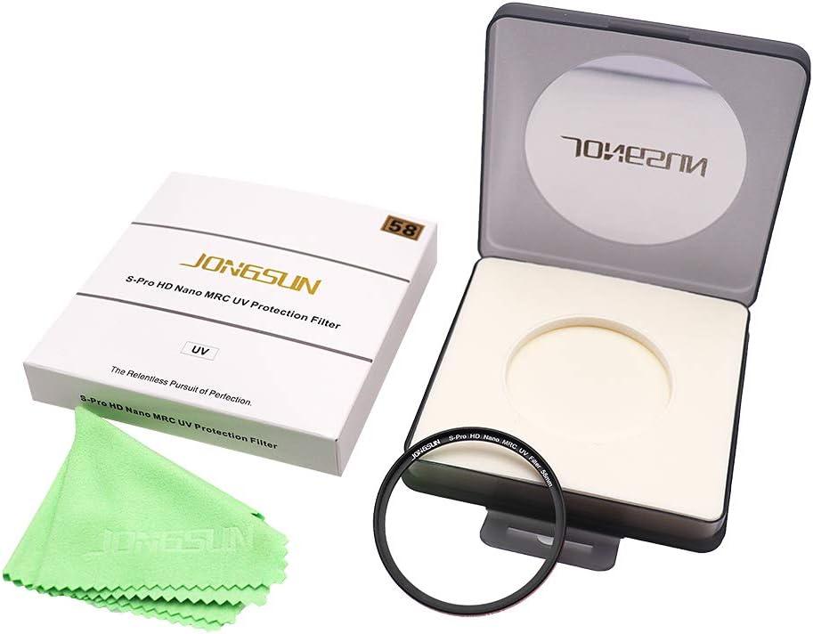 C/ámara Protecci/ón Ultravioleta Filtro JongSun S-Pro HD Nano MRC Filtro UV 82mm 16-Capas Multicapa Recubrimiento Schott B270