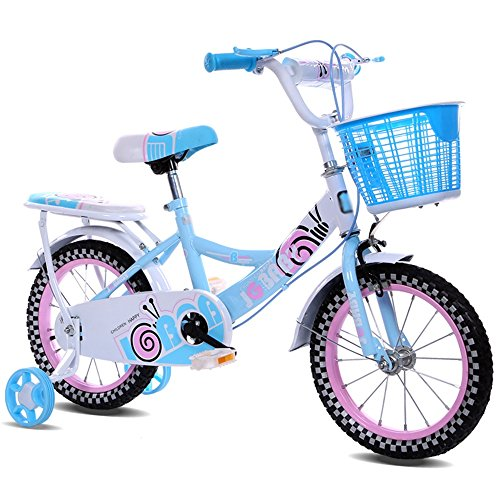 ZHIRONG Bicyclette Pour Enfants Jouet En Métal Violet Rose Bleu 12 Pouces, 14 Pouces, 16 Pouces Sortie Extérieure ( Couleur : Bleu , taille : 14 inches )