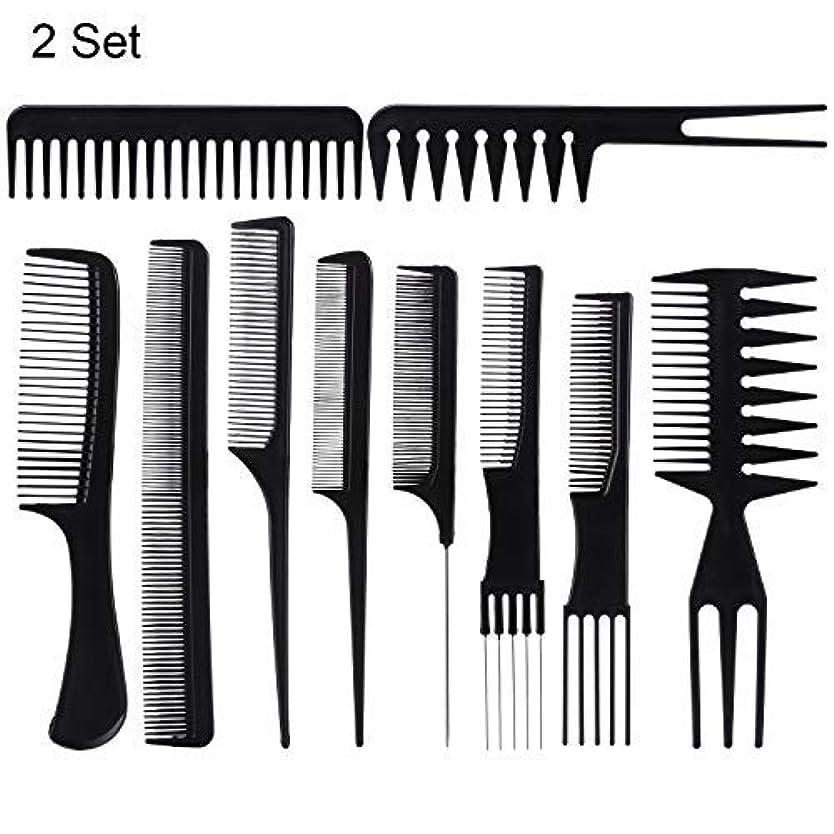 結び目バッテリーボンド20 Piece Professional Styling Comb Set for Making hair style [並行輸入品]