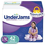 Pampers UnderJams Disposable Bedtime Underwear for Girls, Size L/XL, 42 Count, Super Pack
