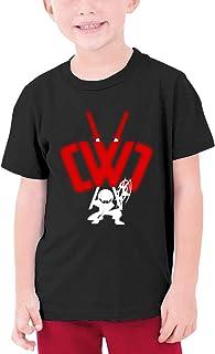 Kids Soft Cotton T Shirt CWC Chad Wild Clay Ninja Stylish Crewneck Short Sleeve Tops Black
