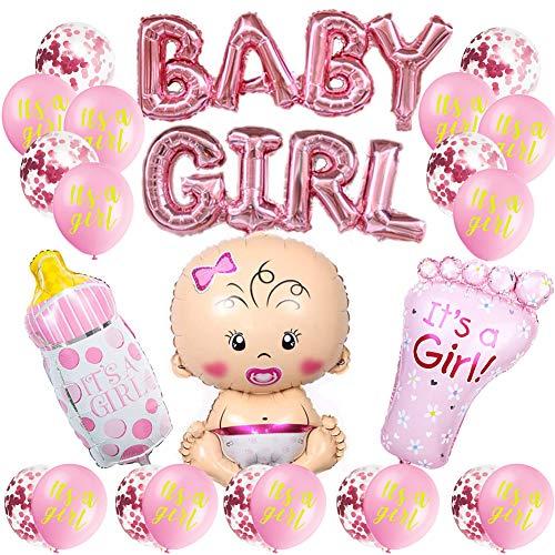 Girl Ballon,Boy Or Girl Ballon,Geschlecht Offenbaren Ballon,Luftballons Mädchen Oder Jungen,Geschlecht Offenbaren Party,Baby Shower Party Dekorationen (Mädchen)