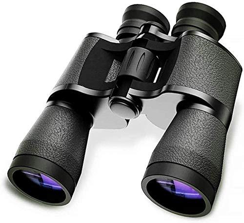 LNHJZ Binoculares Binoculares para Adultos 20X50 Alta definición Zoom de Alta definición Antideslizante A Prueba de Golpes Adecuado para Acampar Viajes al Aire Libre Negro