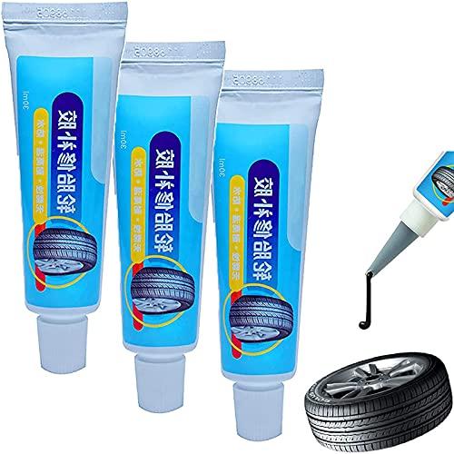 GHDGENJN Reparar el neumático Súper Pegamento, pinchar sellador Fuerte, Resistente al Desgaste, Impermeable y Alta Elasticidad, Adecuado para Cualquier Tipo de neumático-3pcs