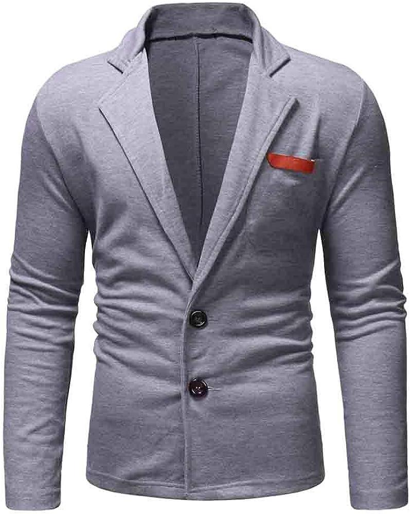 Charm Casual One Button Fit Suit Blazer Coat Jacket Top Outwear Men