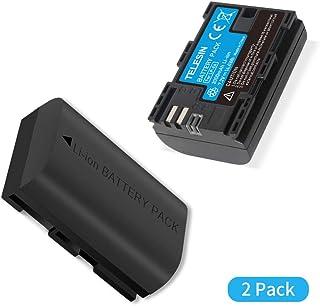 TELESIN ALLIN Box Cargador de batería Dual USB LP-E6 para Canon 5D Mark II III EOS 5D Mark IV 5DS 5DSR 6D 60Da 7D 7D Mark II 70D 80D DSLR Cameras (BATERIA 2 LPE6)
