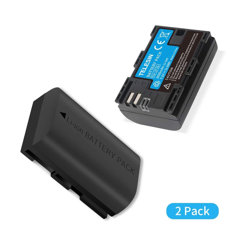 TELESIN ALLIN Box Cargador de batería Dual USB LP-E6 para Canon 5D Mark II III,