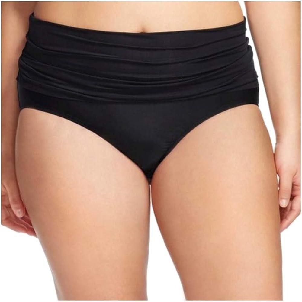 Ava & Viv Women's Plus Size Fold Down Swim Bottom