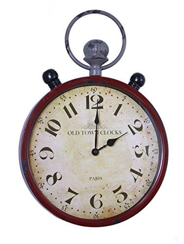 FRANK FLECHTWAREN Antik gearbeitete Metall-Uhr Old Town Clocks