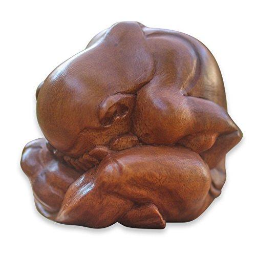 Weeping Buddha Yogi Meditation Wood Statue - OMA Brand