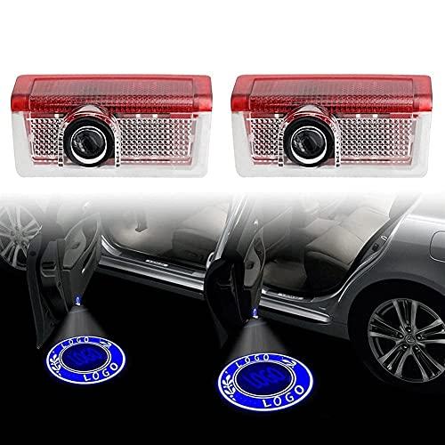 Mimitool Coche de Bienvenida a la luz Compatible con Mercedes. AMG A B C E GL ML GLA Clase W176 W246 W205 W212 W213 Auto Láser Proyecto Fantasma Luz LED Puerta de Coche Lámpara de Bienvenida HD