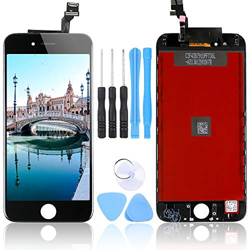 LL TRADER Nuovo LCD per iPhone 6 Nero Schermo Parti di Ricambio Display Touch Screen Lente in Vetro Kit di trasformazione Completo di Ricambio + Utensili Inclusi