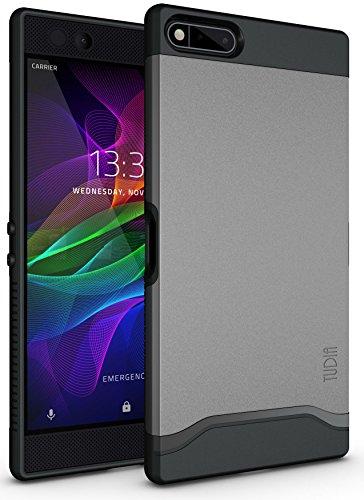 TUDIA Razer Phone Hülle, Slim-Fit Merge Dual Layer Schutzhülle für Razer Phone (2017 Version) (Metallic Slate)