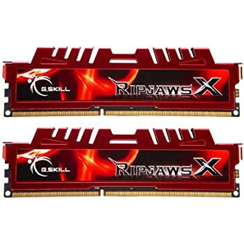 G.Skill - F3-12800CL10D-16GBXL  - 16 GB RipjawsX - Mémoire RAM (Kit 2 x 8 Go, DDR3-1600 MHz, PC3 12800, CL 10), Rouge