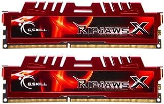 G.Skill F3-12800CL10D-16GBXL  RipjawsX - Memoria RAM (Kit 2 x 8GB, DDR3-1600 MHz, PC3 12800, CL 10), Rojo