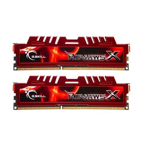 G.Skill 16 GB RipjawsX - Memoria RAM (Kit 2 x 8GB, DDR3-1600 MHz, PC3 12800, CL 10), Rojo