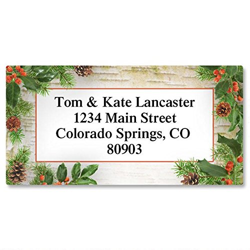 Woodland Whimsy Christmas Return Address Labels- Set of 144, Large Self-Adhesive, Flat-Sheet Labels, by Colorful Images