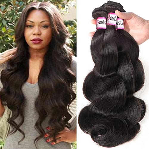 Bestsojoy Brazilian Virgin Hair Body Wave 4 Bundles 10A Unprocessed Remy Human Hair Weave Natural Color (20 22 24 26)