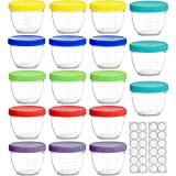 Youngever 18 Pack Baby Food Storage, 4 oz Baby Food Containers with...