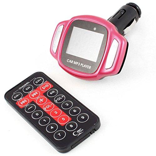 Schermo LCD Car Remote Control Mp3 Player FM Transmitter Nero Rosa