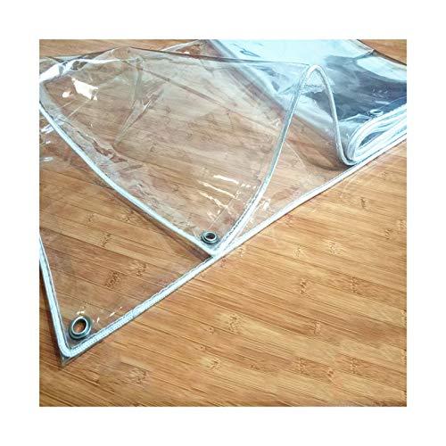 WZNING Tarra Transparente de 0.3mm, Cubierta de plástico de PVC de Alta Resistencia, Resistente al Viento a Prueba de Viento con Ojal de Metal para Cortinas de balcón, pérgola Durable y Protector