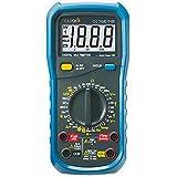 C-LOGIC 5100 Multímetro Digital Tension DC/AC 600V Corriente AC/DC 10A Resistencia 200MΩ Temperatura Capacitancia 100µF Frecuencia 20kHz 2000 cuentas CAT III 600V