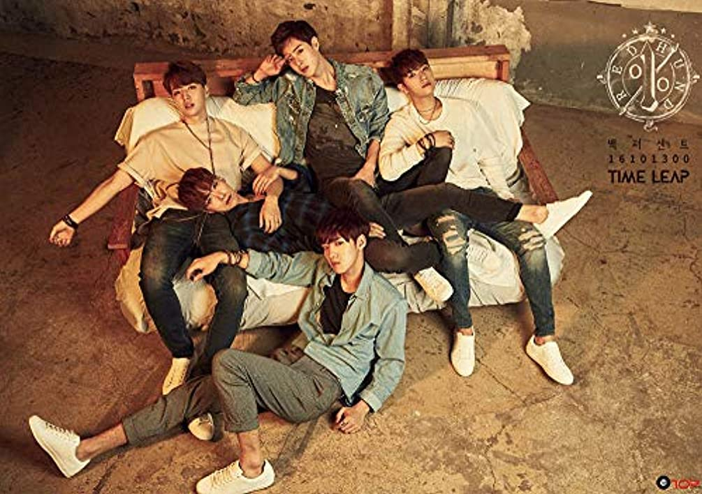 100% 100 PERCENT [TIME LEAP] 3rd Mini Album CD+Photo Book+1p Post Card+1p Photo Card+Tracking Number K-POP SEALE