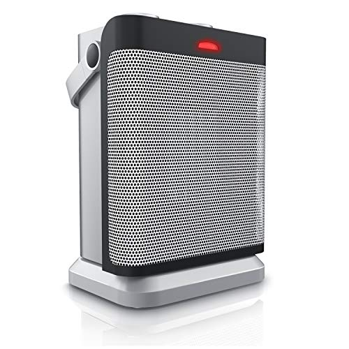 Brandson - Heizlüfter mit Oszillation und 2 Leistungsstufen - Heizlüfter Badezimmer energiesparend leise - stufenlose Temperaturregelung - Keramik Heizelement - Überhitzungsschutz - Heater