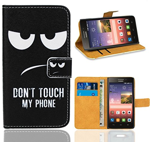 Huawei Ascend G620s Case, FoneExpert Premium Leather Flip Wallet Bag Case Cover For Huawei Ascend G620s