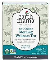海外直送品 Earth Mama Angel Baby Organic Morning Wellness Tea, 16 CT