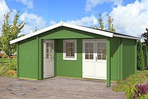 Gartenhaus HELSINKI I - 70 Blockhaus Holzhaus 530 x 445 cm - 70 mm Ferienhaus