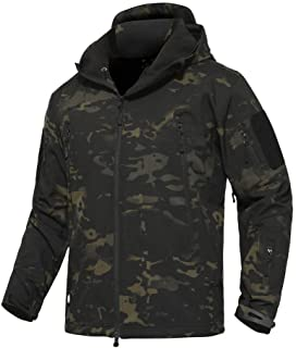 Sponsored Ad - ANTARCTICA Men's Outdoor Waterproof Soft Shell Hooded Military Tactical Jacket